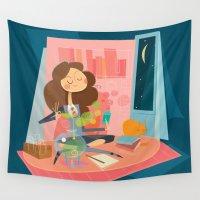 hermione Wall Tapestries featuring Hermione by breakfastjones