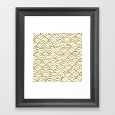 Gold Mermaid Framed Art Print