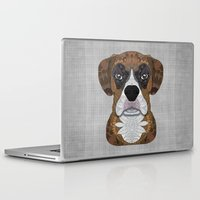 boxer Laptop & iPad Skins featuring Boxer by ArtLovePassion