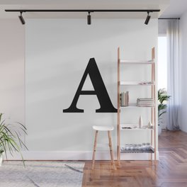 Letter A Initial Wall Mural