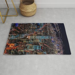 Lower Manhattan & Freedom Tower Landscape Painting by Jeanpaul Ferro Rug