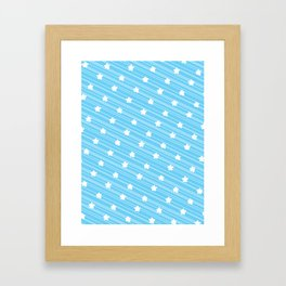 Pattern Eighties Blue Framed Art Print