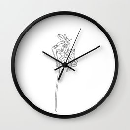 Daffodil flower botanical illustration - Lani Wall Clock