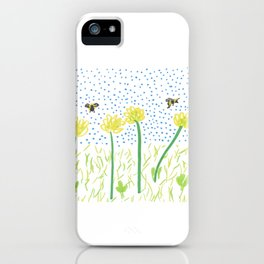Honey Bees Love Flowers iPhone Case