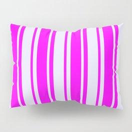 Fuchsia & Lavender Colored Pattern of Stripes Pillow Sham
