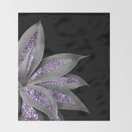 Agave Finesse Glitter Glam #3 #tropical #decor #art #society6 Throw Blanket