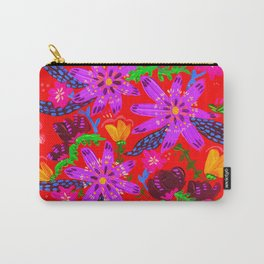 Orange Violets Carry-All Pouch