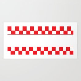 Red chess board Art Print
