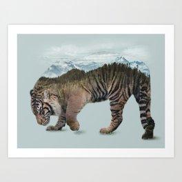Bowing Tiger Art Print