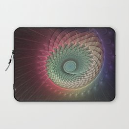 Abstract And Colorful Snail, Fractal Art Laptop Sleeve
