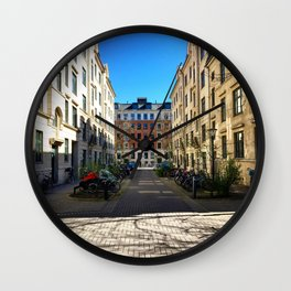 Park a Bike Wall Clock