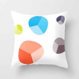 Faceted Stones Throw Pillow