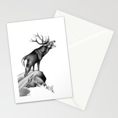 Stag Roaring in the Rut Stationery Cards