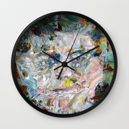 JOHN F. KENNEDY oil portrait Wall Clock