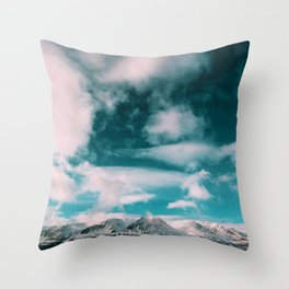 Sky Above the Mountains (Color) Throw Pillow