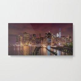 NEW YORK CITY Nightly Impressions | Panoramic Metal Print