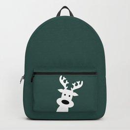 Reindeer on green background Backpack