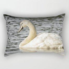 Swimming swan Rectangular Pillow