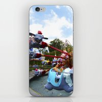 dumbo iPhone & iPod Skins featuring Dumbo Ride by Around The Park