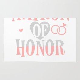 Matron Of Honor Bridesmaid Maid Of Honor Rug