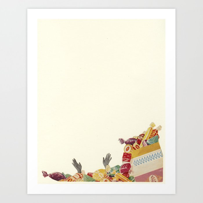Drowning in Chocolate Art Print