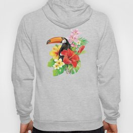 Tropical Toucan Collage Hoody