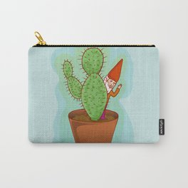 fairytale dwarf with cactus Carry-All Pouch
