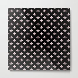 Black & Pale Pink Chic Metal Print
