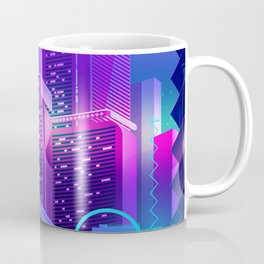 Synthwave Neon City #8 Coffee Mug