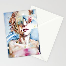 Portrait with Buildings. Stationery Cards