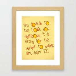 Sing Joyfully! Framed Art Print