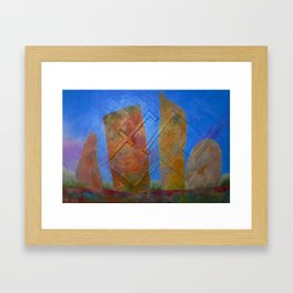 There Were Houses Framed Art Print
