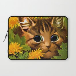 """Louis Wain's Cats """"Tabby in the Marigolds"""" Laptop Sleeve"""