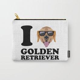 I Love Golden Retriever modern v1 Carry-All Pouch