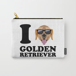 I Love Golden Retriever modern v1 Carry-All Pouch