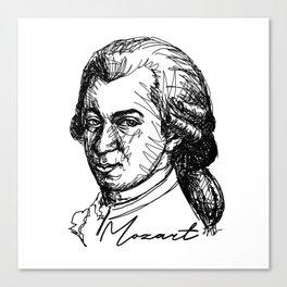 Wolfgang Amadeus Mozart sketch Canvas Print