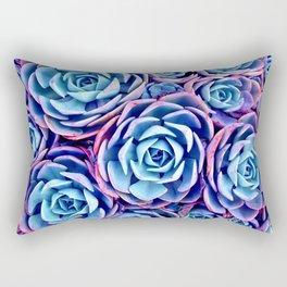 Bright Succulent Garden Rectangular Pillow