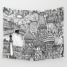 To Russia, With Love Wall Tapestry