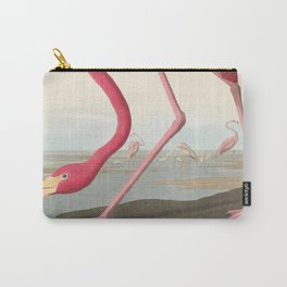 Vintage Flamingo Illustration (1838) Carry-All Pouch
