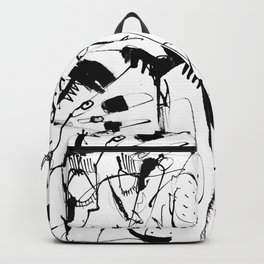 Thoughts - b&w Backpack