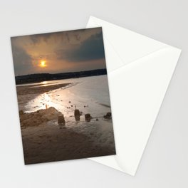 Sandcastles at sunset Stationery Cards