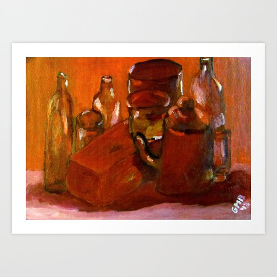 Still Life Study in Red Art Print