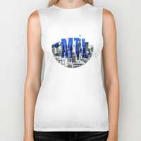 montreal Biker Tanks featuring Rep your City: Montreal by Greg Dubois aka. marvelgd
