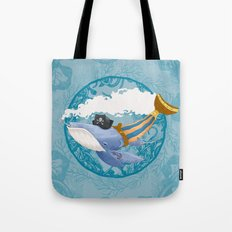 Ballena Pirata Tote Bag