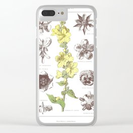 Vinca Major, Pelargonium Tomentosum, Convallaria Majalis, Potilla Anserna, Geum Urbanum, Potentilla Clear iPhone Case