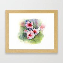 Carnations, watercolour Framed Art Print