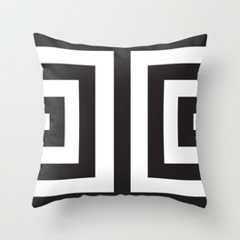 Black Greek Stripes Throw Pillow