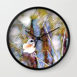 Junco Pastel Multi by CheyAnne Sexton Wall Clock