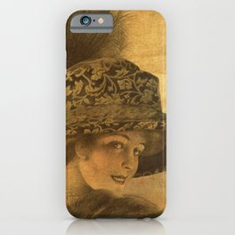Golden victorian lady iPhone Case