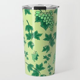 Seamless background from bunches of grapes Travel Mug